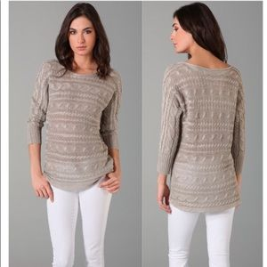 Alice + Olivia Hayden Cable Knit Sweater Size M